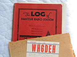 A log book and a QSL of the period